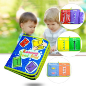 Samber Baby Learn to Dress Board Basic Skill Learning Board Toddler Dressing Teaching Books Early Education Aids Baby Puzzle Toys Children Early Teaching Props