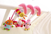 jileSM Cute Cartoon Baby Bed Hanging Toy Musical Bed Toy