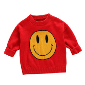 squarex Suny Boys Girls Kids Heart Sweater Knitted Pullovers Warm Coat Clothes