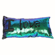 Janly® Rectangle Mermaid Sequin Throw Pillow Cover Sofa Bed Home Decor Cushion Cover Decorative Pillowcase Magical Colour Changing