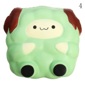 HAPPYQUDA Kawaii Squishy Large Sheep Bread Super Soft Slow Rising Gift Cream Scented Toy 1PCS Green