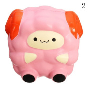 HAPPYQUDA Kawaii Squishy Large Sheep Bread Super Soft Slow Rising Gift Cream Scented Toy 1PCS Pink