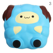 HAPPYQUDA Kawaii Squishy Large Sheep Bread Super Soft Slow Rising Gift Cream Scented Toy 1PCS Blue