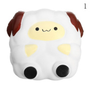HAPPYQUDA Kawaii Squishy Large Sheep Bread Super Soft Slow Rising Gift Cream Scented Toy 1PCS White