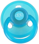 dBb RemondAnatomical Round Rubber Soothers Pack, Turquoise, 2-Count