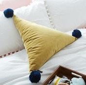 MAYUAN520 cushions for sofa Triangle Shape Bed Sofa Car Cushion Home Decorative Pillow Home Store Decor,50X50X50Cm,F