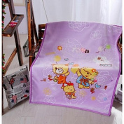 Super Soft Animal Polyester Blankets , purple