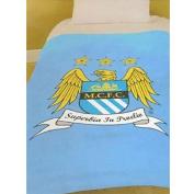 Manchester City Fleece Blanket Childrens Kids Warm Soft 130cm x 180cm Blanket
