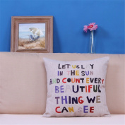 Cushion Moon Colour Letter Pillow Sofa Bed Head Cotton / Cotton Pillowcase Cushion Car Cushion Nap Pillow,B1,45*45Cm