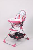 Polini Kids childrens high chair 252 pink, 1305-02