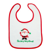 Unisex Cute Christmas Xmas Style Children Kids Toddlers Infants Drooling Teething Bib Feeding Accessories for Baby Boys Girls