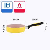 FONK Pans Frying Pan 16CM Non-stick Medical Stone Non-stick Pot Induction Cooker General Mini Small Omelette.,E-16cm