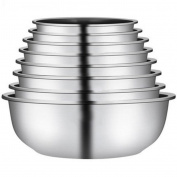 Liuyu Kitchen Home 304 Stainless Steel Basin Tableware Vegetable Pots Soup Basin Fruit Pots Thicker Round
