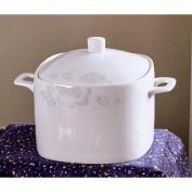 Liuyu Kitchen Home Soup Bowl Large Home Dish Bowl With Cover Ceramics Face Bowl Soup Basin Diameter 19cm
