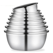 Liuyu Kitchen Home Thicker Stainless Steel Pot Round Cooking Pots Soup Basin Baked Egg Pot Wash Vegetables Pots