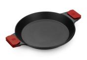 Braisogona Infinity Cast Aluminium Paella Pan, Black, 36 cm