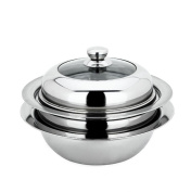 Steamer Stainless Steel for Thickening Flying Saucer with Lid Universal Steamer Multi Purpose Pan JMQ