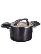 GSW Stahlwaren GmbH Energy Saving Pot, Black, 24 x 16 cm, 6 Litre