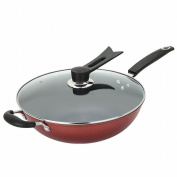 Wok Non - Stick Pan Less Fume Induction Cooker Universal 32Cm with Lid,Figure