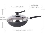 Woks Non-Stick Micro Smoke Fine Iron Universal Cooking Pot Family Kitchen 32cm SuJi