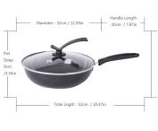 Enamel Wok Non-Stick No Coated Soot Free Kitchen, Multi-Purpose Pot,32cm SuJi