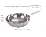 Pan Frying Uncoated Pot of Stainless Iron Induction Cooker Universal for The Kitchen SuJi 32cm