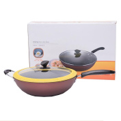 Wok No Sticky Smoke Tie Kettle Cover Universal Cooking Pot For Kitchen 34cm SuJi