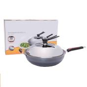 Woks Non-Stick Micro Smoke Fine Iron 34cm Universal Cooking Pot Family Kitchen
