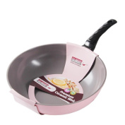 Ceramic Frying Wok does Not Stick Pot, 30cm No Smoke, No Penetration Layer, Cooking Pot for Kitchen