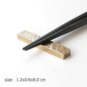 GZD Simple Geometric Pattern Hand Pure Brass Chopsticks Chopsticks Mat Chopsticks Pillow ,2 Kind Of Size Available , brick shape