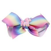Gluckliy Unicorn Decor Hair Bow Hairpin Hair Clips for Baby Kids Girls Hair Accessory Gift