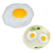 GlobalDeal Direct 3 Pack Fake Fried Egg Food Simulation Children Play Toy Anti Stress Anxiety Relief Car Decor