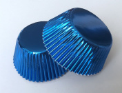 50 pcs Metallic Blue Aluminium Foil Standard Size Cupcake Liners for Special Occasions Wedding