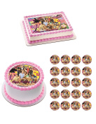 TEEN BEACH MOVIE Edible Birthday Cake OR Cupcake Toppe - 1m cupcake (6 pieces/sheet) inches