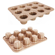 Cannele Mould Pan 12 Cup Non-stick Canneles Baking Canele Mould Canada Champagne