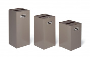 Rubbermaid Commercial Products FGNC30P11L Collect-A-Cube Customizable Recycling Containers, Paper (Confidential), 28 1.9l with Lock