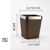 Wddwarmhome Leather Material Black Clouds Pattern Trash Can Living Room Bedroom Kitchen Hotel Home Creative No Cover Small Plastic Trash Can Trash Bin Waste Bins