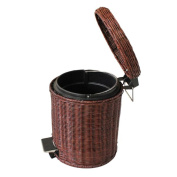 Wddwarmhome Home Bathroom Covered Rattan Trash Can Pedal Creative Kitchen Braid Cover The Wastebasket Pure Plant Weaving Waste Bins