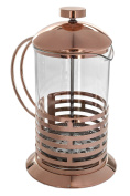 Rose Gold 800ml Tempered Borosilicate Glass French Press Coffee Tea Maker Set