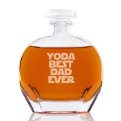 Yoda Best Dad Ever Engraved Puccini Glass Decanter