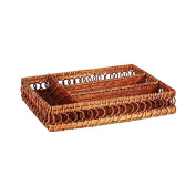 Caribbean Joe Rattan Rectangle Organiser, Honey