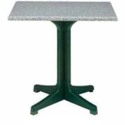90cm Square Outdoor Table Top Only No Umbrella Hole - Granite Green - Lot of 3