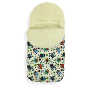 Universal Baby Stroller cosytoes Liner Buggy Luxury Padded Footmuff ( Wool )