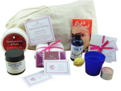 Balancing Beauty Spa Journey For Your Wife Or Partner – An All Natural Spa Bag With Frankincense & Rose Essential Oils. Calming Aromatherapy Skin Care Products, A Set Of 'Sweet Nothings' Love Compliment Cards & A Romantic Tea Light Candle, To Inspire B ..