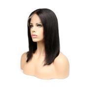 VENMO 41cm Swiss Lace Front Wigs Brazilian Asian Black 360 Short Wigs For Women