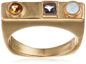 Lizzie Fortunato Gold-Plated Mosaic Ring - Size N