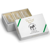 Natural Soap Bar With Donkey Milk & Organic Olive Oil - Luxury Gift Set - Pack of 3 Bars - 450gr