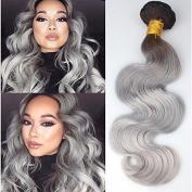 Sunny Brazilian Grey Ombre Hair Body Wave Human Hair Weave 100gram/Bundle 60cm Unprocessed Remy Human Hair Extensions