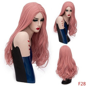 Mufly Synthetic Wigs Girls Full Head Wigs Long Wavy Curly Hair for Cosplay Costume Party Fancy Dress 70cm