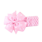 Susenstone Baby Girl Children Lovely Bow Wave Bandeau Elastic Headband Headwrap Hairband